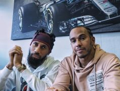 Phyno Chills With Lewis Hamilton in Spain