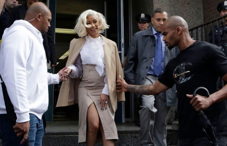 Cardi B In Court To Plead Not Guilty to Felony Charges
