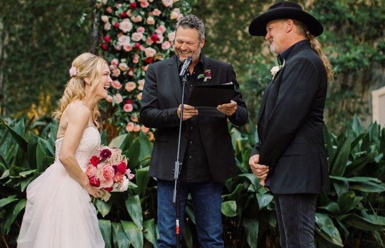 Blake Shelton Presided Over Trace Adkins' Marriage Ceremony
