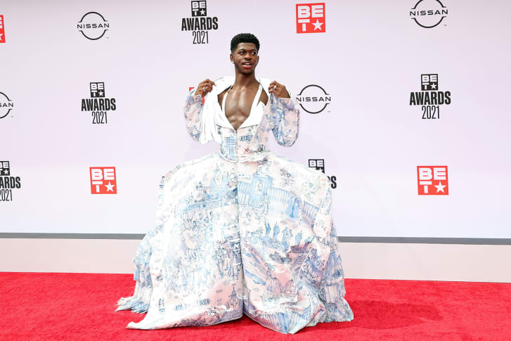 Lil Nas X Took the BET Awards Red Carpet By Storm