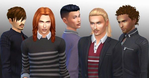 5 Male Hairs