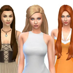 Female Long Hair Pack 4