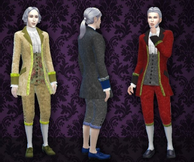 Rococo Clothes for man