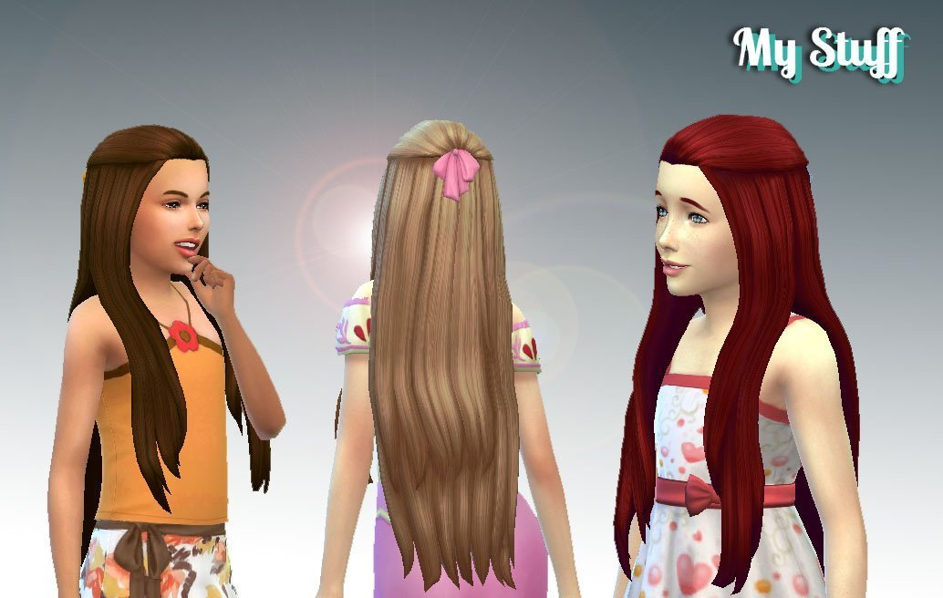 Pure Hair (Version 2) + Bow for Girls
