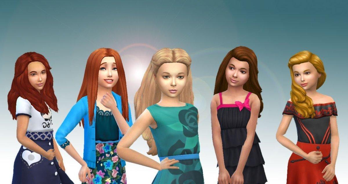 Girls Long Hair Pack 6