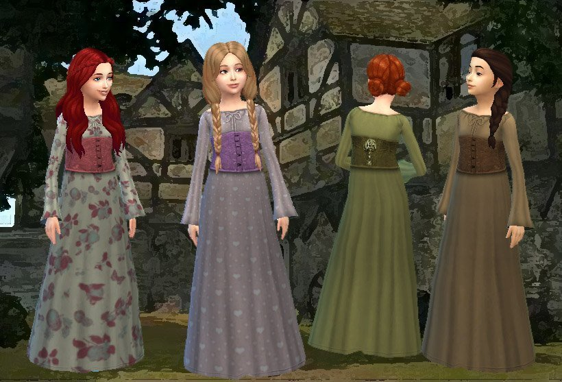 Medieval Dress for Girls