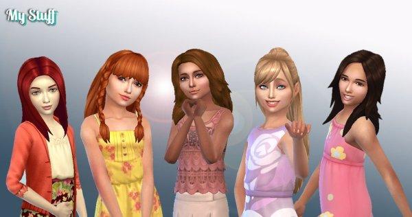 Girls Long Hair Pack 10