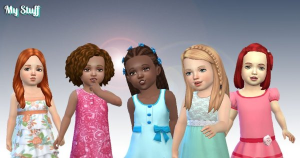 Toddlers Hair Pack 8