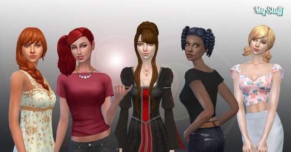 Female Tied Hair Pack 7
