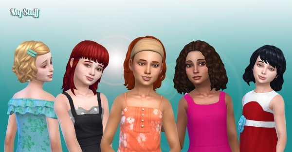 Girls Medium Hair Pack 9