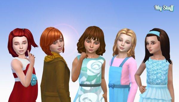 Girls Medium Hair Pack 10
