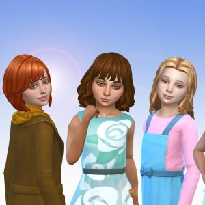 Girls Medium Hair Pack 10