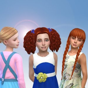 Girls Tied Hairs Pack 8