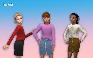 Sweater Skirt for Girls