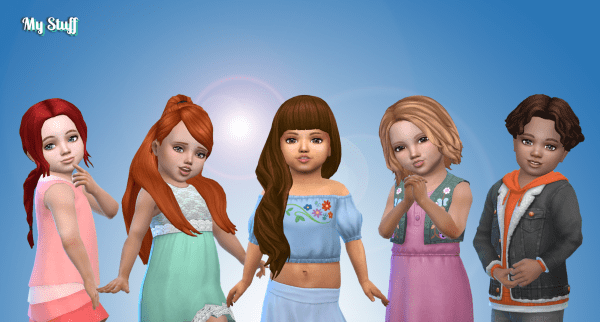 Toddlers Hair Pack 30
