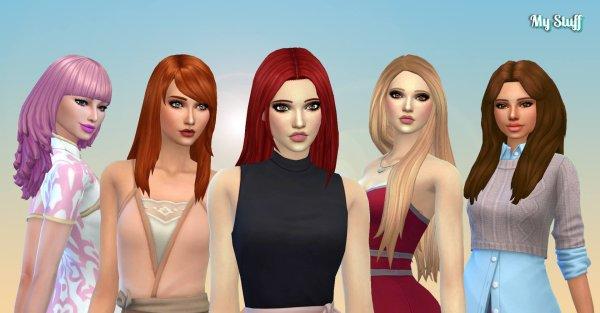 Female Long Hair Pack 24