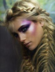 feather braids rave