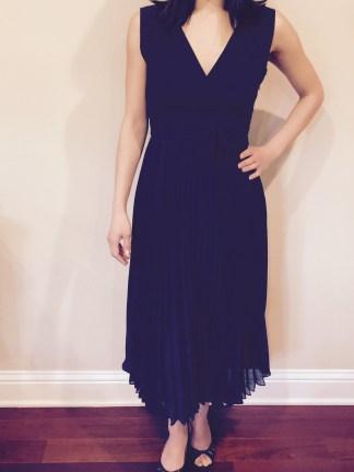 Petite pleated Dress
