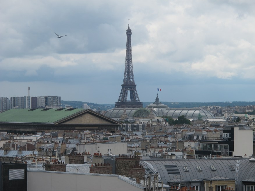 The rooftop at the Galeries Lafayette