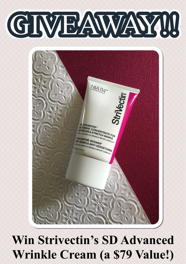 Strivectin SD Advanced Wrinkle Cream GIVEAWAY