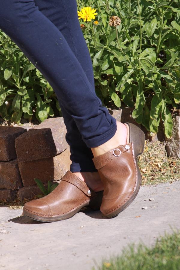 Rocky 4eursole Comfy leather clogs