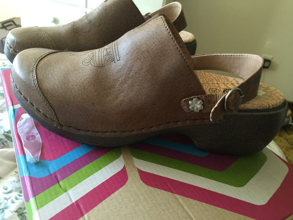 rocky 4 eur sole worn 3 ways- strap in back