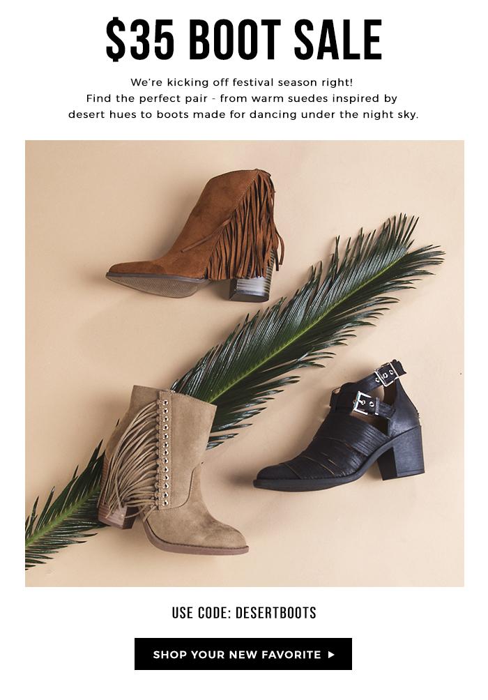 $35 Zooshoo boot sale