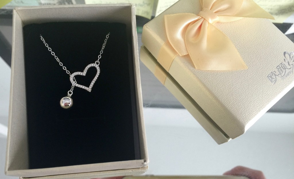 .925 sterling silver cubic zirconia heart lariat necklace