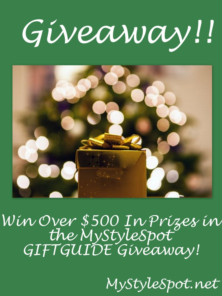 win over $500 in prizes in the Mystylespot gift-guide-giveaway