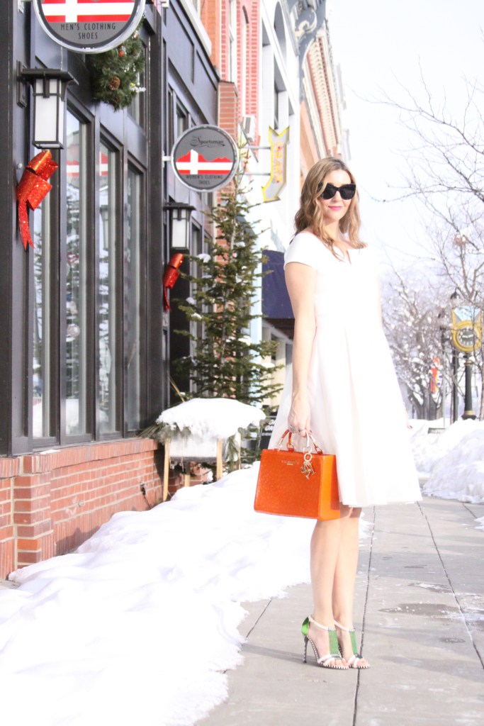 winter white dress