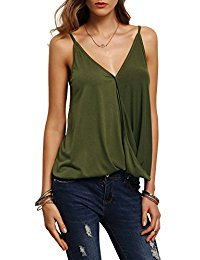 green sexy v neck camisole