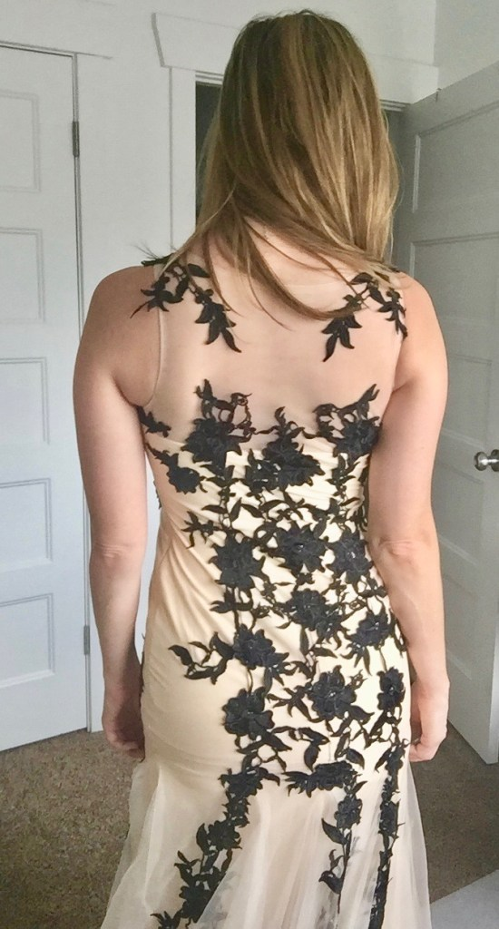 Giveaway: win a gorgeous black lace appliqué mermaid gown for prom