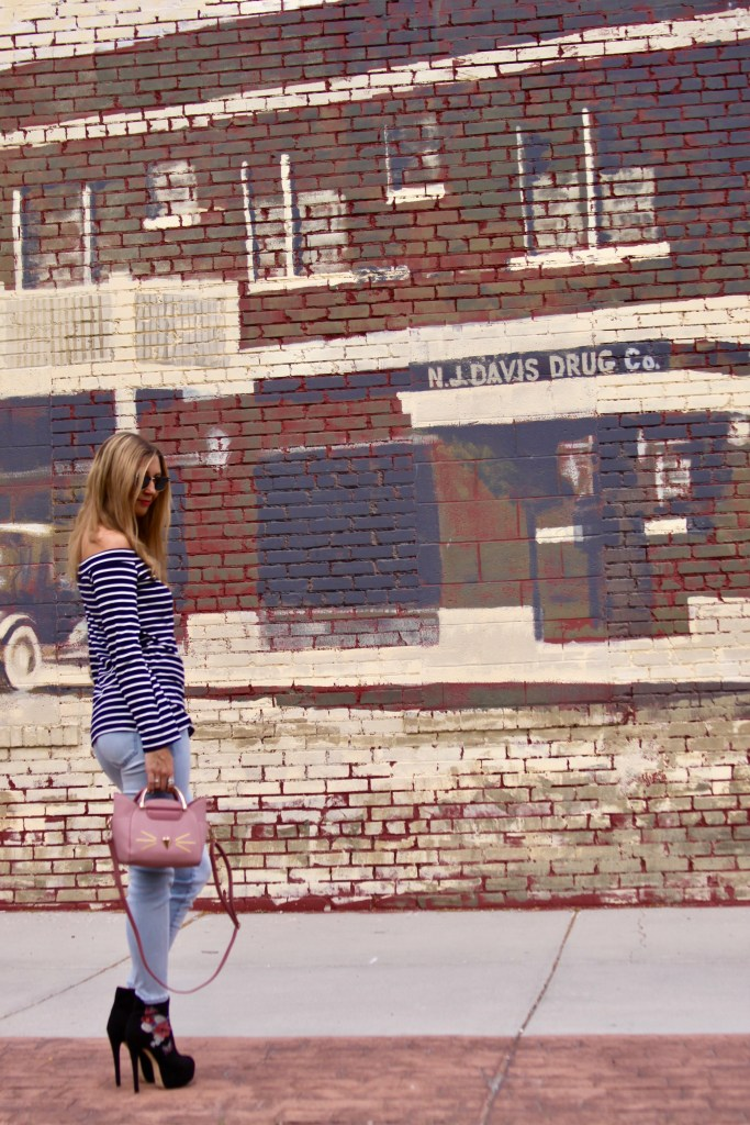 Style Post: Off-The-Shoulder, Stripes & Denim for Fall