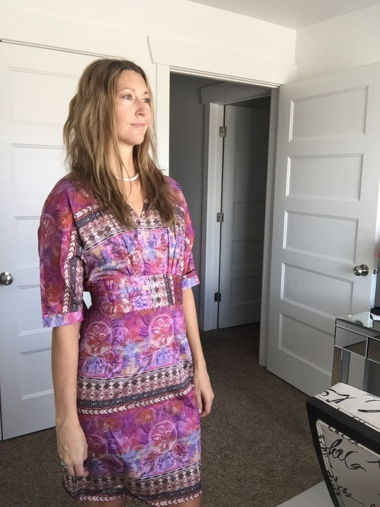 Chic Pink Tribal Print Dress