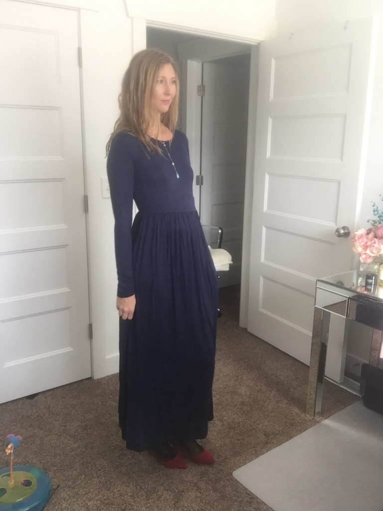 Blue Long Sleeved Maxi