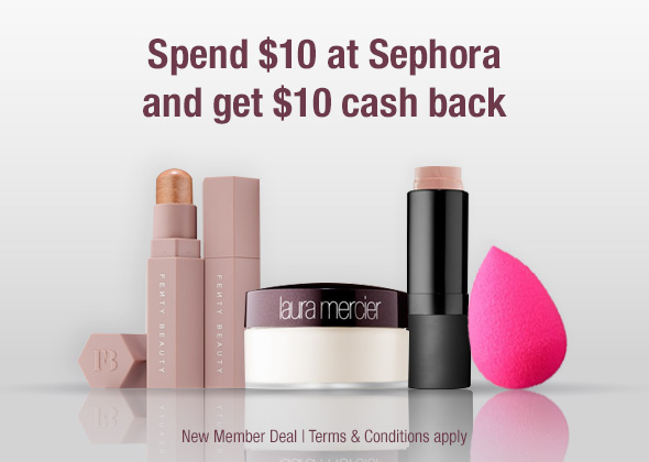 make up picture and sephora $10 cash back discount