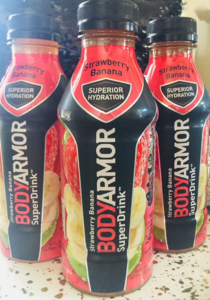 BODYARMOR pree workout and sports drink bottles