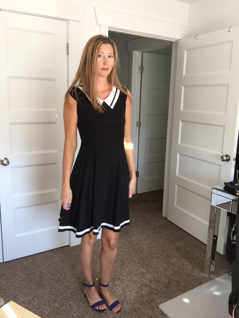 Black and White Collar Striped Dress