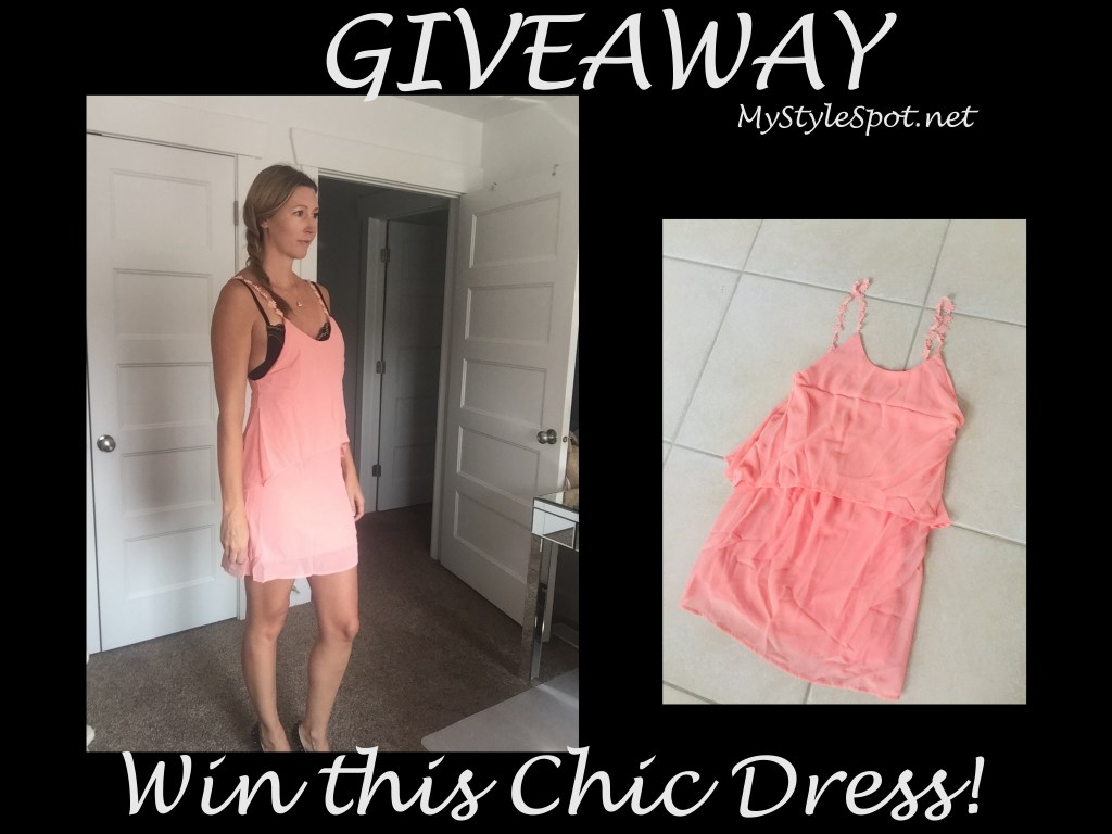 woman in chic peach layered dress
