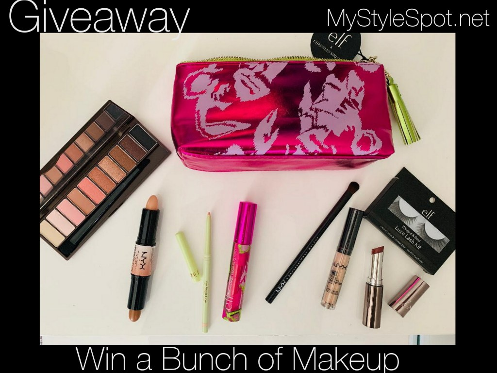 enter to win a bunch of makeup and a limited edition christian siriano makeup bag