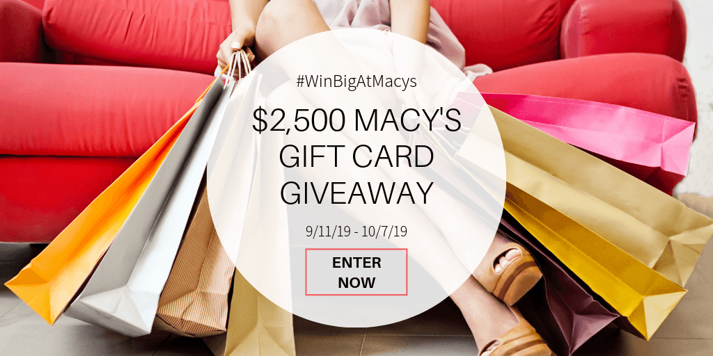 GIVEAWAY: Win $500 Macy's Gift Card - 5 Winners