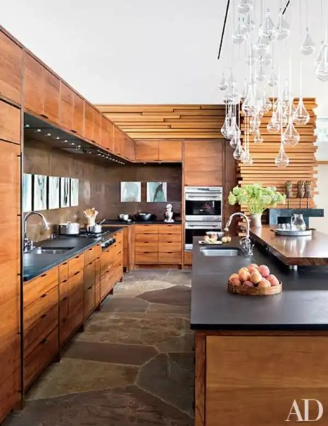 modern architecture kitchen Modern Mountain Homes via Architectural Digest