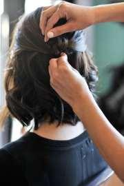 updo short hair