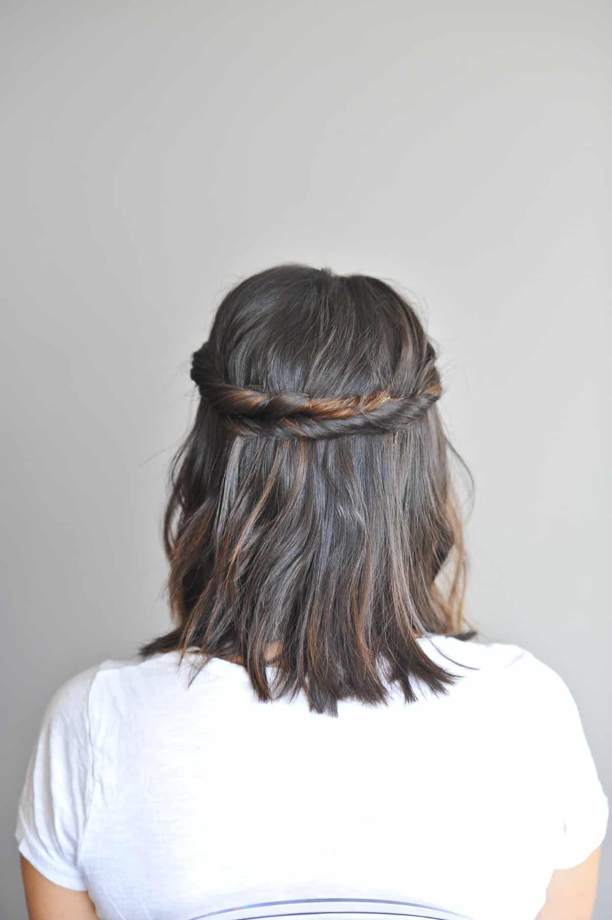 Twisted Half Up For Short Hair Tutorial My Style Vita