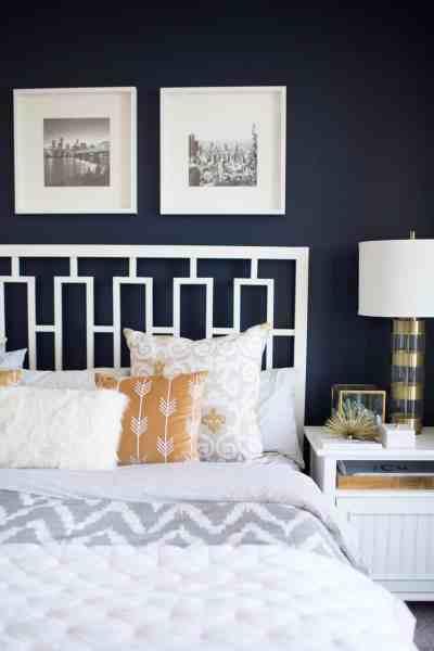 dark bedroom wall idea The best navy bedroom wall idea