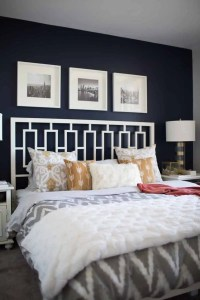 A Look Inside A Blogger's Navy and Mustard Bedroom - My ...
