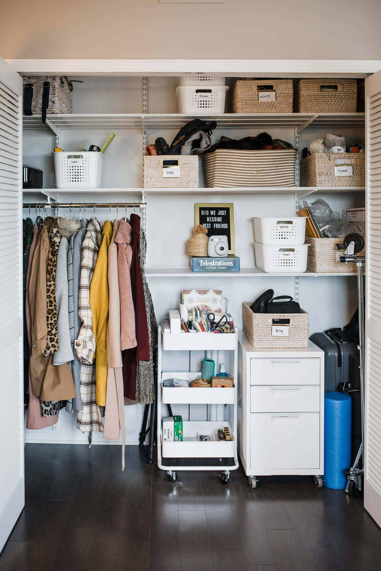 My Container Store Closet Makeover My Style Vita