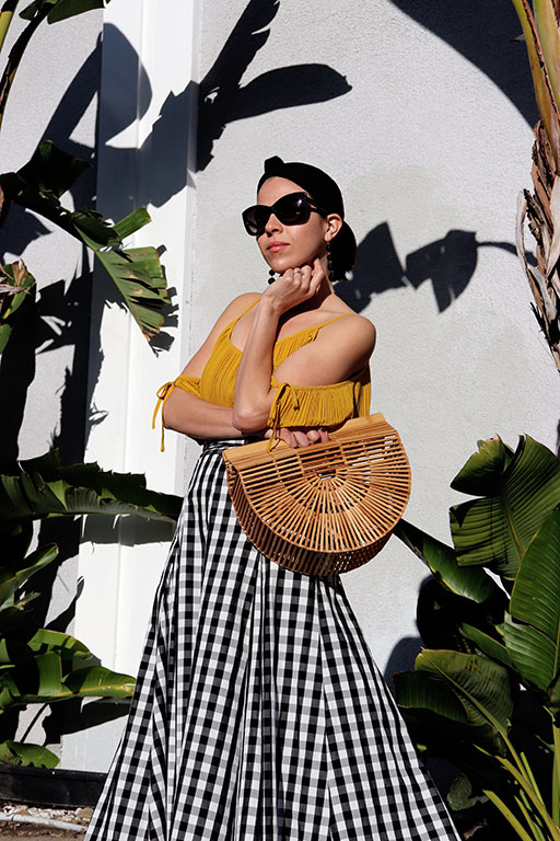 Skirt-gingham-summer2018-summertime-summerstyle-sandiegostyleblogger-sdstyle-cultgaiabag-cultgaia