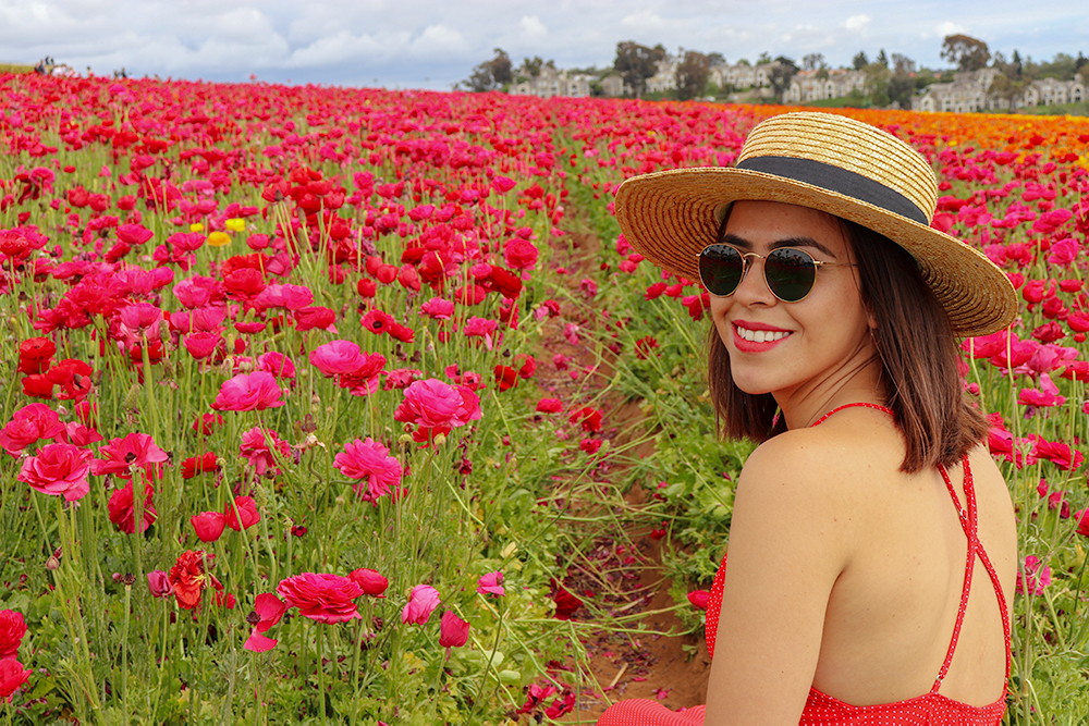 KarlaVargas-SanDiego-FlowerFields-RedDress-SummerDress-SummerStyle-PolkaDot-PolkaDotDress-PolkaDress-RedDress-Flowers-SanDiegoFlowerFields
