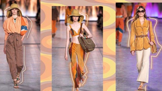 Spring Summer 2020 70's style inspiration Alberta Ferretti